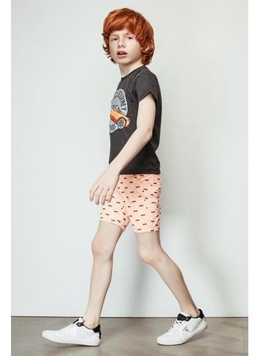 Nebbati Erkek Çocuk Neon Oranj Şort 19SS1NB3141 Oranj